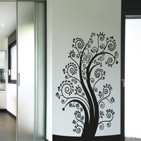 Vinyl Wall Decal Sticker Swirly Branch Tree #5122
