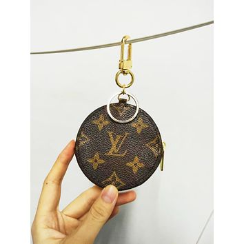 Vsgirlss Louis Vuitton LV tide brand female retro small round bag clutch bag zipper key case