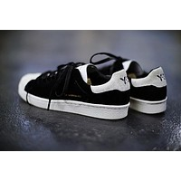 adidas y 3 super knot superstar running shoes black white ac7405