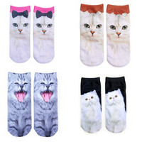 Pack of 4 pairs Cats Socks