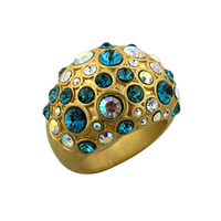 Pave Antique Gold Cocktail Ring