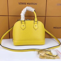 LV Louis Vuitton EPI LEATHER ALMA HANDBAG INCLINED SHOULDER BAG