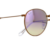 RayBan RB3532 198/7X 47mm Bronze-Copper Frame Lilac Grad Flash Lens Sunglasses