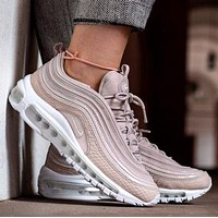 Nike Air Max 97 Premium Silt Red Running Shoes Prm Pink White Sport Shoes 917646-600