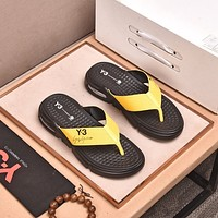 Y3 Popular Summer Women's Flats Men Slipper Sandals Shoes