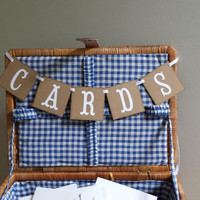 Mini Cards Banner, Cards Mini  Banner, Rustic Card Banner, Rustic Wedding Mini Banner