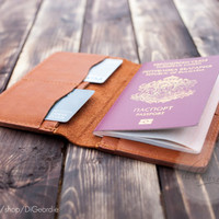 Minimal passport case leather passport cover genuine leather passport holder billfold passport wallet passport organizer travel wallet