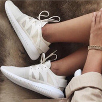"""Adidas"" Women Men Running Sport Casual Shoes Sneakers Beige"