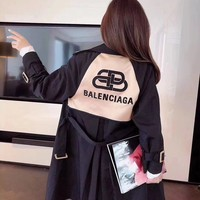 Top Gift Balenciaga Warm Women Double Breasted Long Trench Parka Coat Suit jacket