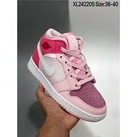 Nike Air Jordan 1 Mid cheap fashion Mens and womens sports shoes