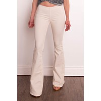 Free People Ivory Penny Pull On Flare