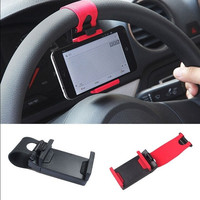 1PC Car Steering Wheel Bike Adjustable Clip Mount Holder For Smart Phone GPS Universal = 1645814980