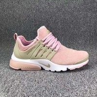 Nike Air Presto Trending Woman Casual Running Sport Shoes Sneakers Pink Khaki I-CSXY