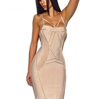 Keery Dress With Gold Studded Hardware