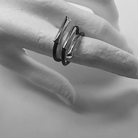 Twisted Tubes Ring