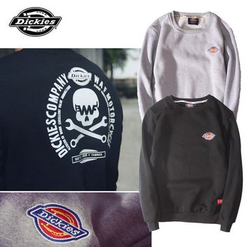 Couple Embroidery Hoodies Cotton High Quality Round-neck Pullover Bottoming Shirt [9070630595]