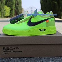 Off White x Nike Air Force 1 Low classic low-top all-match casual sports shoes