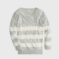 Factory sequin-stripe sweater