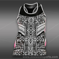Lucky in Love Tribal Racerback Tank