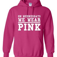On Wednesdays We WEAR PINK Great Mean Girls Hoodie Funny 80's Retro Fashion Hoodie or T Shirt Either Available All Colors Funny Gift