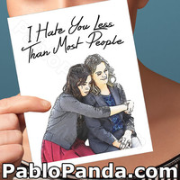 Best Friend Card   Parks And Recreation   Ron Swanson April Ludgate I Love You Gift For Her Bff Gift Gift For Best Friend Parks And Rec Card
