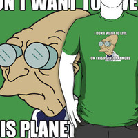 "Futurama: ""I Don't Want To Live On This Planet Anymore"" (Farnsworth) by Teji"