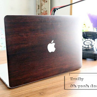 wood Macbook decal Macbook Keyboard Decal Macbook Pro Keyboard Skin Macbook Air Sticker apple wireless keyboard Macbook vinyl sticker