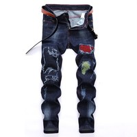 Winter Stretch Ripped Holes Jeans [1567946342493]