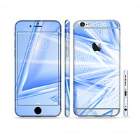 The Clear Blue HD Triangles Sectioned Skin Series for the Apple iPhone 6 Plus