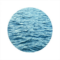 LIMITED EDITION Circle Photo, Ocean Photography, Sea, Blue, Seascape Photography, Swell, Open Edition 8 x 8 Square Photo