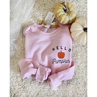Hello Pumpkin Sweatshirt in Pink