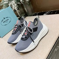 PRADA Women 2020 new Fashion popular Casual Sneakers Sport running Shoes grey Size 35-40