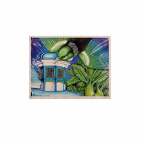 """Vinny Thompson """"New Zealand"""" Teal Bird KESS Naturals Canvas (Frame not Included)"""