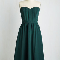 Long Strapless Fit & Flare Take a Dance on Love Dress