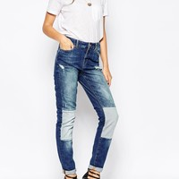 Noisy May Kim Loose Jeans with Patches 32 Leg