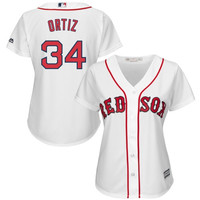 David Ortiz Boston Red Sox Majestic Women's Cool Base Player Jersey – White