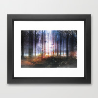 Absinthe forest Framed Art Print by HappyMelvin