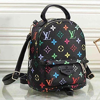 Louis Vuitton LV Classic Zipper Punk Rivet Backpack Fashion Ladies Backpack Bag daypack