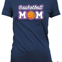 Basketball Mom T Shirt Basketball Shirts For Mom Mothers Day Gifts Basketball Lover Shirt Basketball Gifts For Mom Sports Fan Ladies MD-621