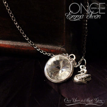 Once Upon a Time inspired Emma Swan necklace with Crystal charm