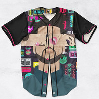 Inspired by The Weeknd Custom Made Fashion 3D Sublimation Print Baseball Jersey