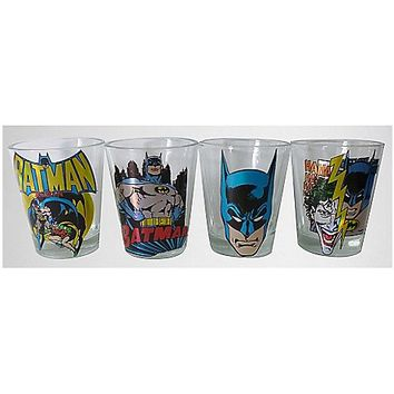 2 oz. Batman Laser Shot Glass Set - Spencer's