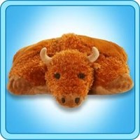 Original Folding Plush – Billy Buffalo – 18 inch Large Pillow Pet