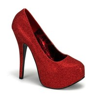 Womens Glitter Pumps 5 3/4 Inch High Heel Shoes Detachable Shaft Lace Up Bootie
