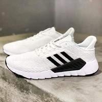 Adidas Asweego New fashion mesh couple running shoes White