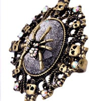 Spider and Skull Vintage Ring
