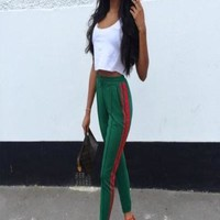 Gucci Green Pants-Green
