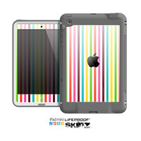 The Bright Vector Striped Skin for the Apple iPad Mini LifeProof Case