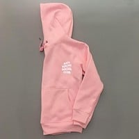 ANTI SOCIAL SOCIAL CLUB printed sweater men and women tide brand street fashion couple hooded jacket Pink