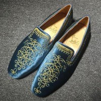 DCCK Cl Christian Louboutin Loafer Style #2397 Sneakers Fashion Shoes
